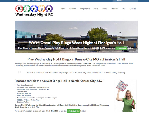 designed non profit organization's bingo website