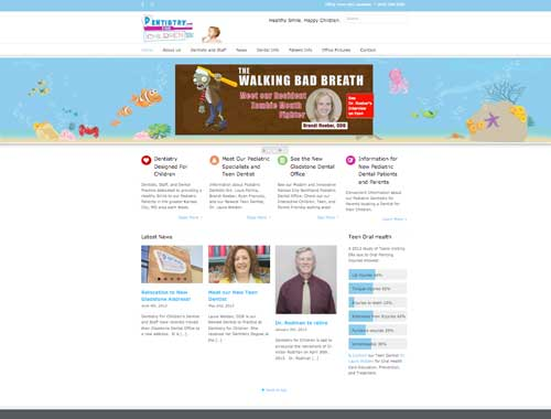 Dentistry For Children's Website